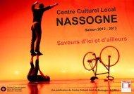 Le Programme 2012-2013 - Centre Culturel Local de Nassogne