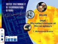 Bilan Équipe Microélectronique et Microcapteurs (MM) - IETR