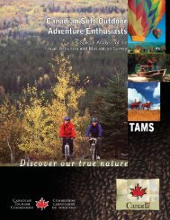 Canadian Soft Outdoor Adventure Enthusiasts - Canadian Tourism ...