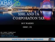 TAXR5. Introducing an XBRL requirement for Corporation Tax filing ...