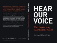 HEAR OUR VOICE The democracy Australians want