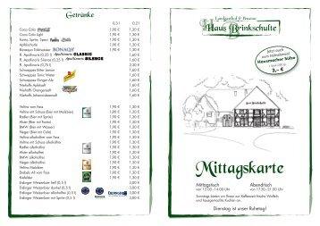 Mittagskarte