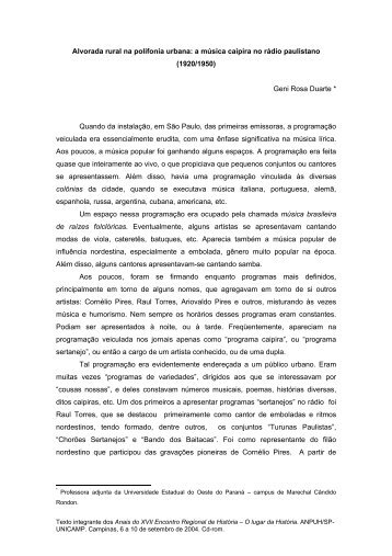 Geni Rosa Duarte - ANPUH-SP