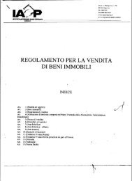 Regolamento Vendita Beni Immobili - IACP MESSINA
