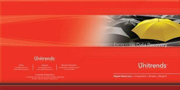 Corporate Brochure - Unitrends