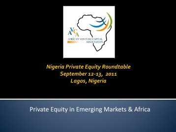 Private Equity in Emerging Markets & Africa