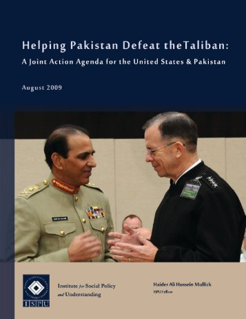Helping Pakistan Defeat Taliban - Institute for Social Policy and ...