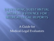 A Guide for Medical-Legal Evaluators - Alumni Association, SMLLU