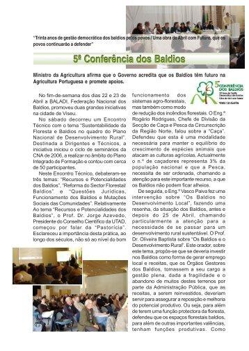 Veja aqui um artigo que relata a Conferência e o Encontro ... - CNA