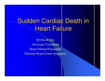 Sudden Cardiac Death in Heart Failure - National Heart Centre ...