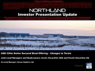 Investor Presentation May 21, 2013 - Northland Resources