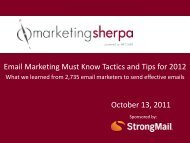 Email Marketing Must Know Tactics and Tips for - MarketingSherpa