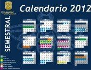 calendario escolar 2012 - Universidad de Guanajuato
