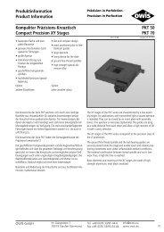 Kompakter Präzisions-Kreuztisch Compact Precision XY ... - Trioptics