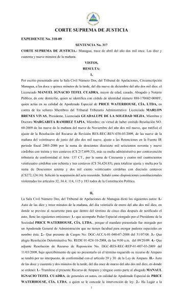SENTENCIA No. 317. - Poder Judicial
