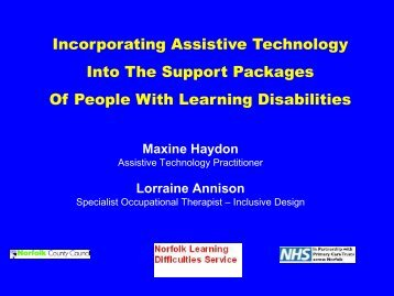 Incorporating Assistive Technology into the Support Packages of ...