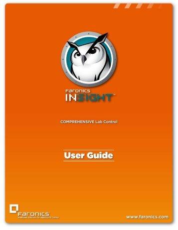 Insight Tech Console User Guide - Faronics