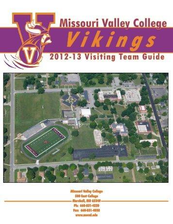 Missouri Valley College Vikings 2012-13 Visiting Team Guide