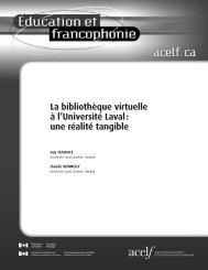 La bibliothèque virtuelle à l'Université Laval: une réalité ... - acelf
