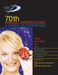ANNUAL WINTER CLINIC - Toronto Academy of Dentistry