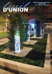 trait Magazine municipal d'information - Baccarat