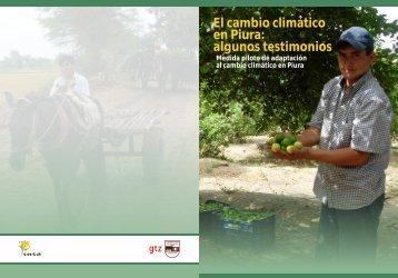 El cambio climático en Piura: algunos testimonios - PDRS