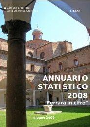Annuario Statistico 2008 (pdf 1986kb) - Comune di Ferrara