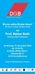 Prof. Rainer Roth - GEW Unterfranken