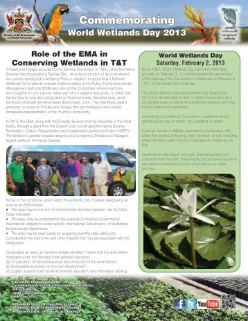Commemorating World Wetlands Day 2013 - Environmental ...