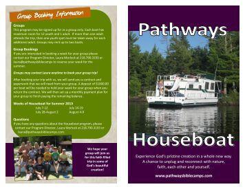 Houseboat Brochure.pub - Pathways Bible Camps, Minnesota