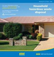 Household hazardous waste disposal - Green GC : Gold Coast ...