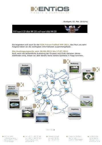 Die Austragungsorte vom 26.06.2011 bis 17.07.2011