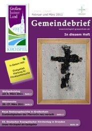 Gemeimdebrief Februar und März 2011 - Kirchspiel Großenhainer ...