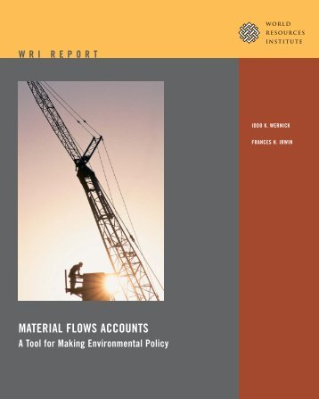MATERIAL FLOWS ACCOUNTS - World Resources Institute