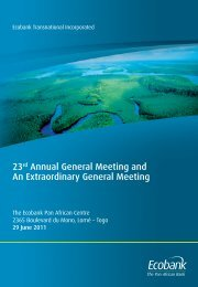 23rd Annual General Meeting and An Extraordinary ... - Ecobank