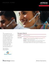 Hitachi Success Story with Bouygues Telecom - Hitachi Data Systems