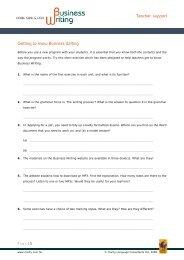 Business Writing - Clarity English language teaching online