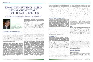 promoting evidence-based primary healthcare accreditation policies