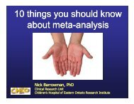 10 things you should know about meta about meta-analysis