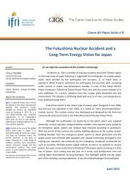 The Fukushima Nuclear Accident and a Long-Term Energy ... - Ifri