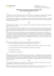RÈGLEMENT sur la Protection des Informations ... - Intra lighting