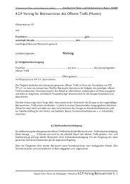 4.2.9 Vertrag für Betreuerinnen des Offenen Treffs (Muster)