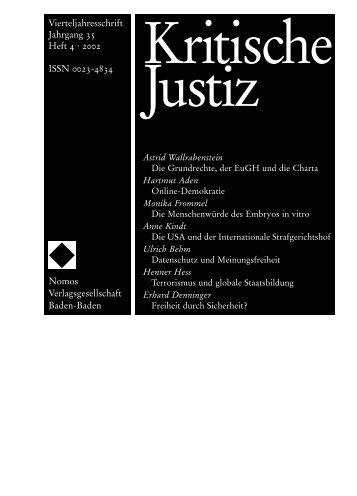 Vierteljahresschrift Jahrgang 35 Heft 4 ´ 2002 ISSN 0023 ... - Nomos