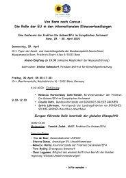 Von Bonn nach Cancun - Reinhard Bütikofer