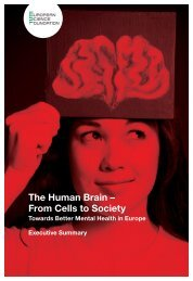 The Human Brain – From Cells to Society - European Science ...