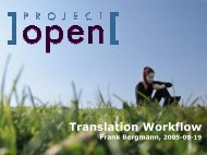Translation Workflow - Project Open