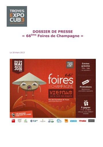 66 Foires De Champagne