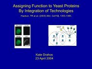 Assigning Function to Yeast Proteins - CABM Protein NMR Lab