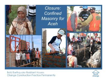 Closure: Confined Masonry for Aceh - Confined Masonry Network