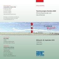 Tourismusregion Nordsee 2020 ... - Daniela Behrens